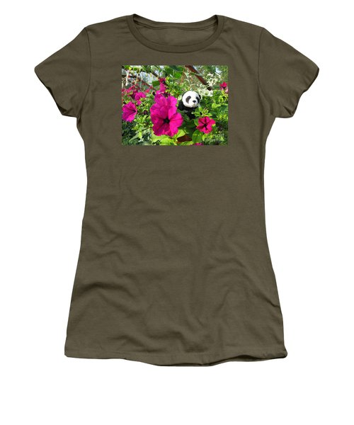Women's T-Shirt (Junior Cut) featuring the photograph Just Hanging In There by Ausra Huntington nee Paulauskaite