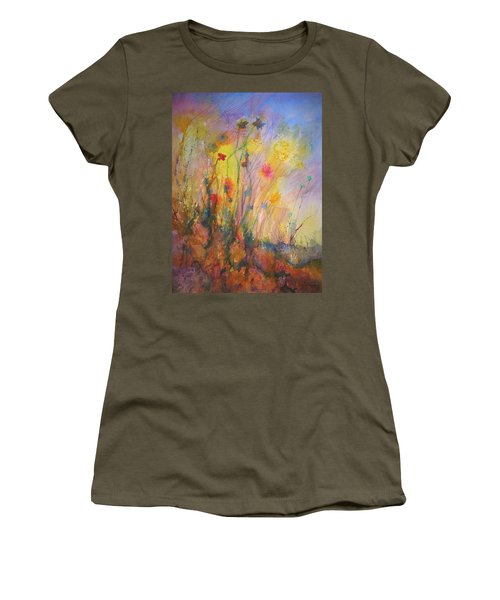 Just Weeds Women's T-Shirt (Junior Cut) by Mary Schiros