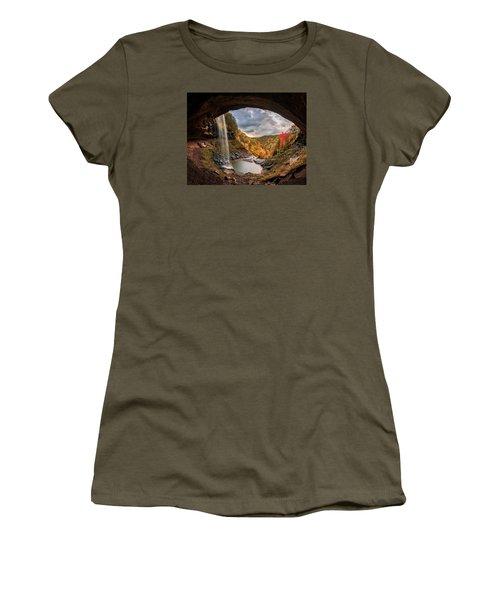 Kaaterskill Falls Women's T-Shirt (Junior Cut) by Anthony Fields