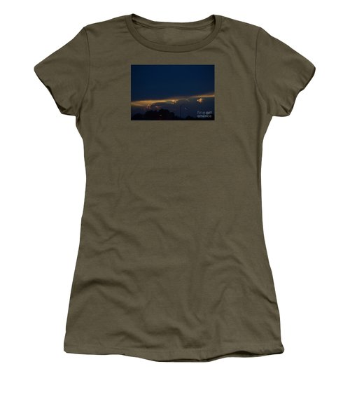 Women's T-Shirt (Junior Cut) featuring the photograph Kansas Sunset Angel by Mark McReynolds