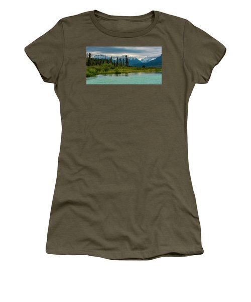 Women's T-Shirt (Athletic Fit) featuring the photograph Kenai by Gary Lengyel