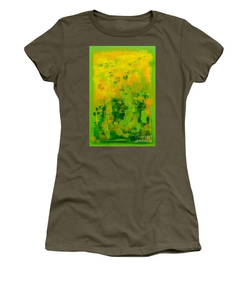 Women's T-Shirt (Junior Cut) featuring the painting Kenny's Room by Holly Carmichael