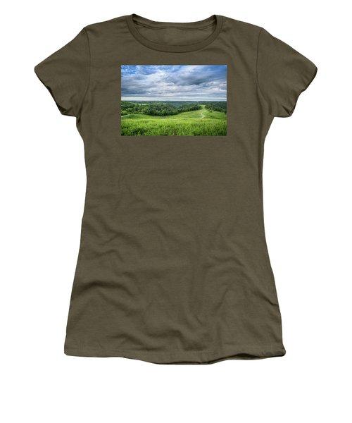 Kentucky Hills And Clouds Women's T-Shirt