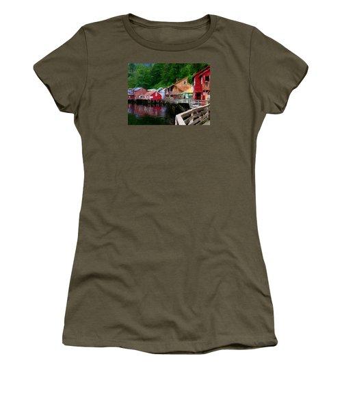 Ketchikan Alaska Women's T-Shirt (Junior Cut) by David Hansen