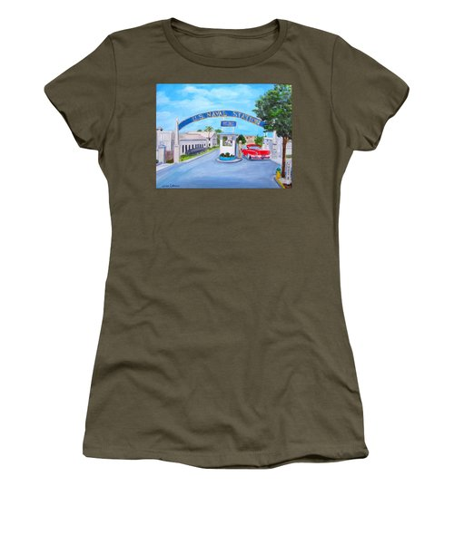 Key West U.s. Naval Station Women's T-Shirt (Athletic Fit)