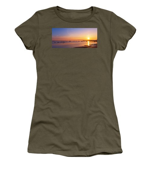 Keyport Harbor Sunrise  Women's T-Shirt (Athletic Fit)