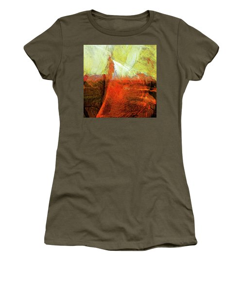 Women's T-Shirt (Junior Cut) featuring the painting Kilauea by Dominic Piperata