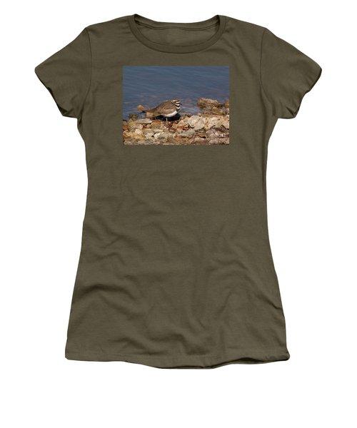 Kildeer On The Rocks Women's T-Shirt (Athletic Fit)