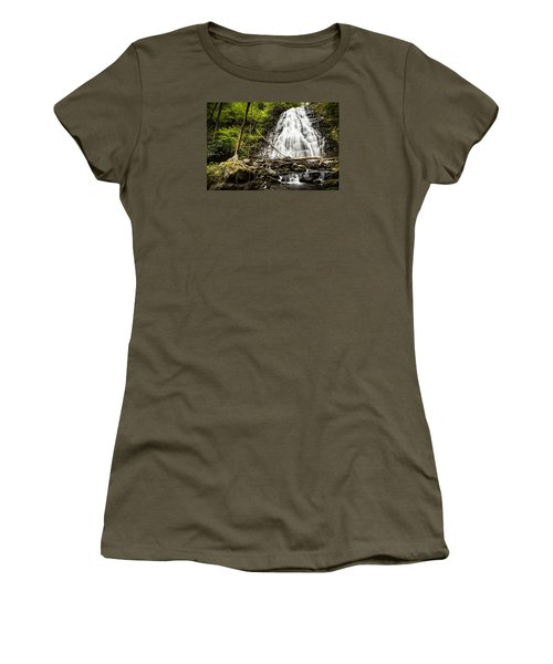 Crabtree Falls - Blue Ridge Parkway North Carolina Women's T-Shirt (Athletic Fit)
