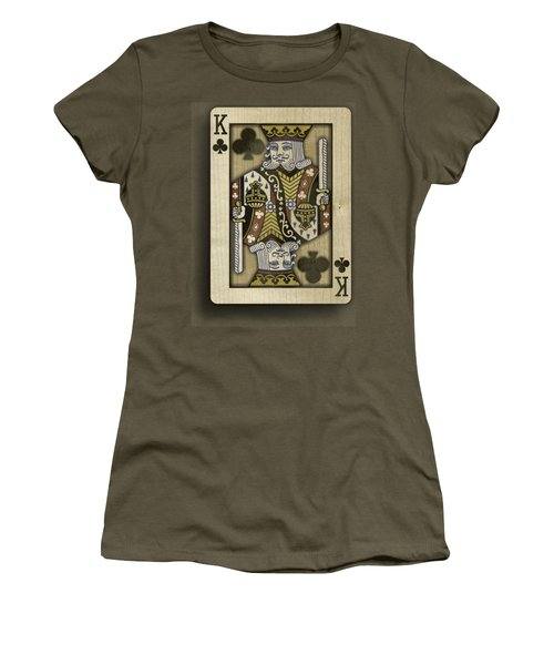King Of Clubs In Wood Women's T-Shirt