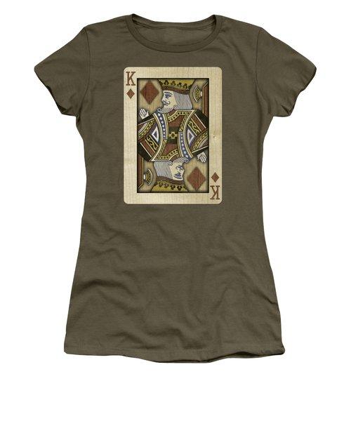 King Of Diamonds In Wood Women's T-Shirt