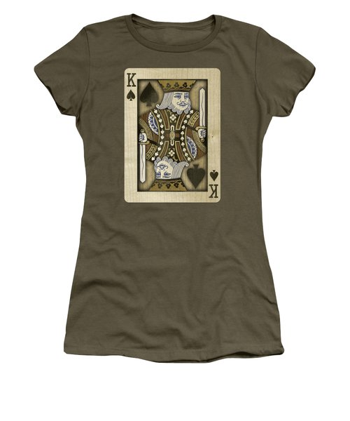 King Of Spades In Wood Women's T-Shirt