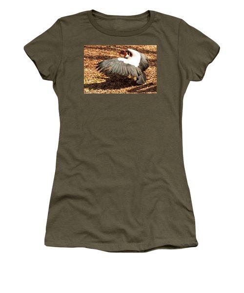 King Vulture 3 Strutting Women's T-Shirt (Junior Cut) by Chris Flees