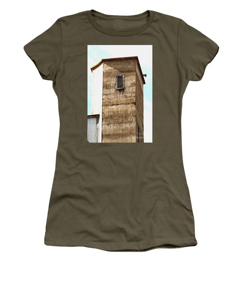 Women's T-Shirt (Athletic Fit) featuring the photograph Kingscote Dungeon by Stephen Mitchell