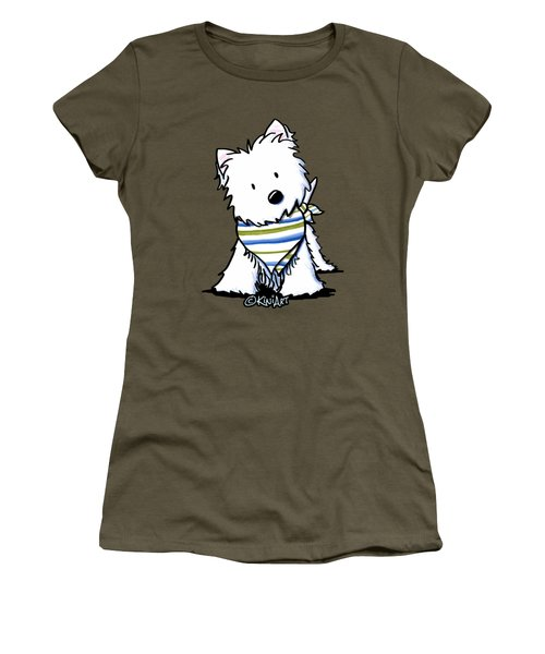 Kiniart Westie Terrier Women's T-Shirt (Athletic Fit)