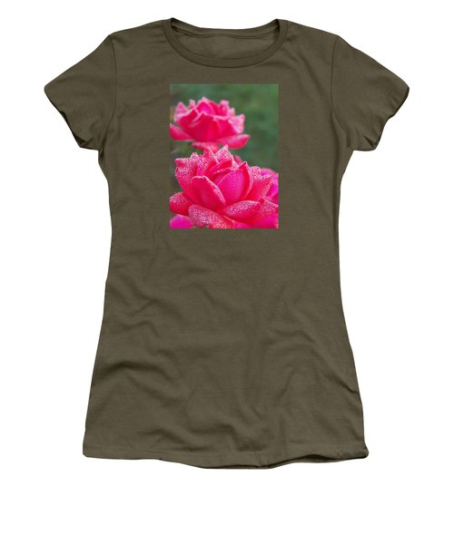 Kissed By Dew Women's T-Shirt (Athletic Fit)