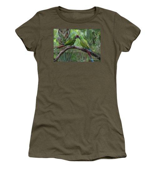 Kissing Macaws Women's T-Shirt