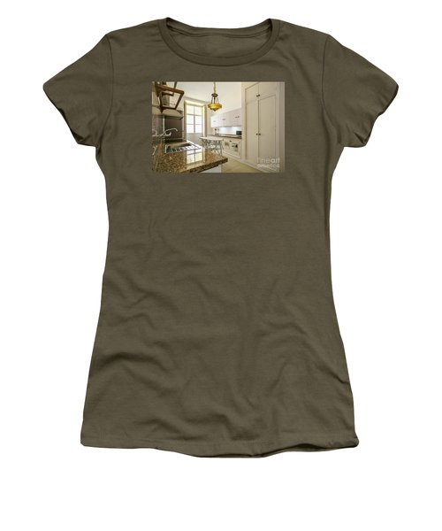 Women's T-Shirt (Athletic Fit) featuring the photograph Kitchen Apartment In The Heart Of Cadiz by Pablo Avanzini