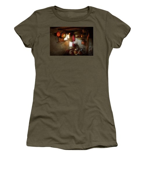 Women's T-Shirt (Junior Cut) featuring the photograph Kitchen - Homesteading Life by Mike Savad