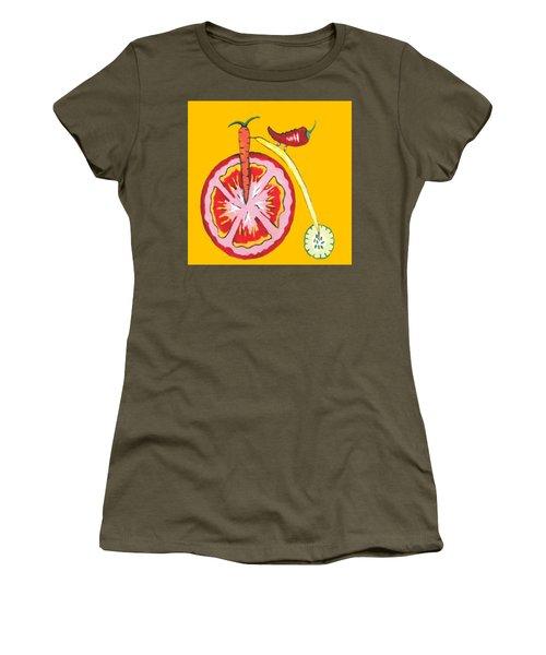Kitchen Vegetable Art Women's T-Shirt (Athletic Fit)