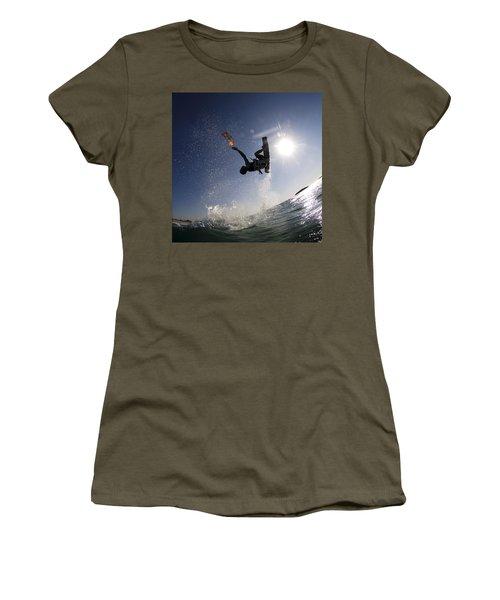 Kitesurfing In The Mediterranean Sea  Women's T-Shirt