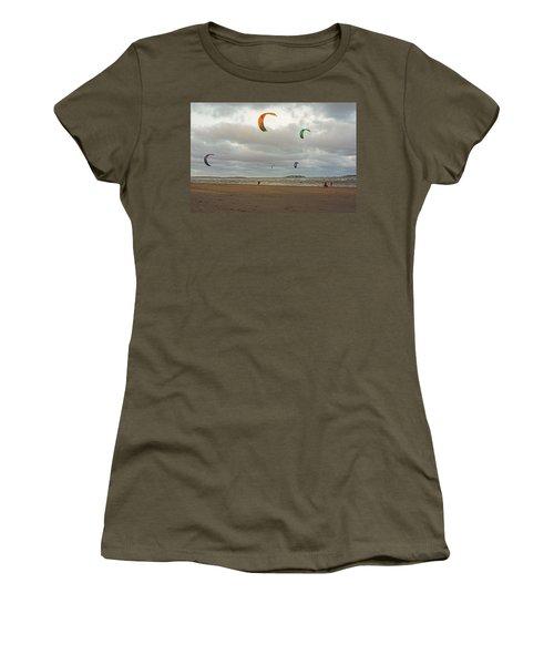 Kitesurfing On Revere Beach Women's T-Shirt