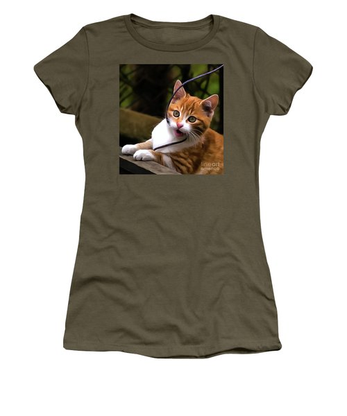 Kitten Portrait Player Women's T-Shirt