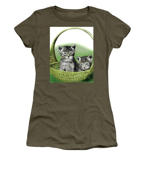 Kitty Caddy Women's T-Shirt (Junior Cut) by Ferrel Cordle