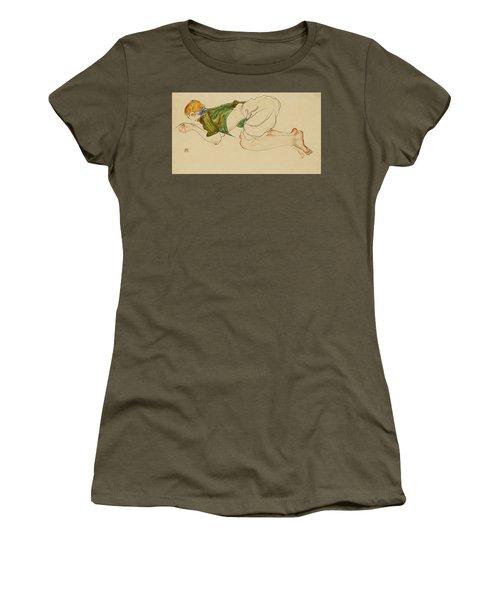 Kniende Frau Women's T-Shirt