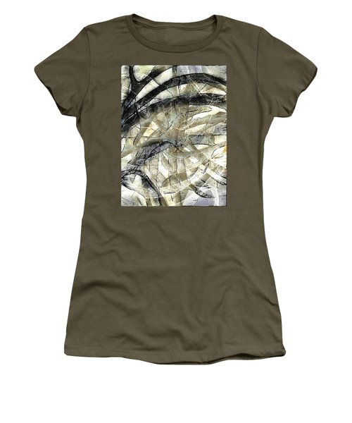 Women's T-Shirt (Junior Cut) featuring the painting Knotty by Vicki Ferrari