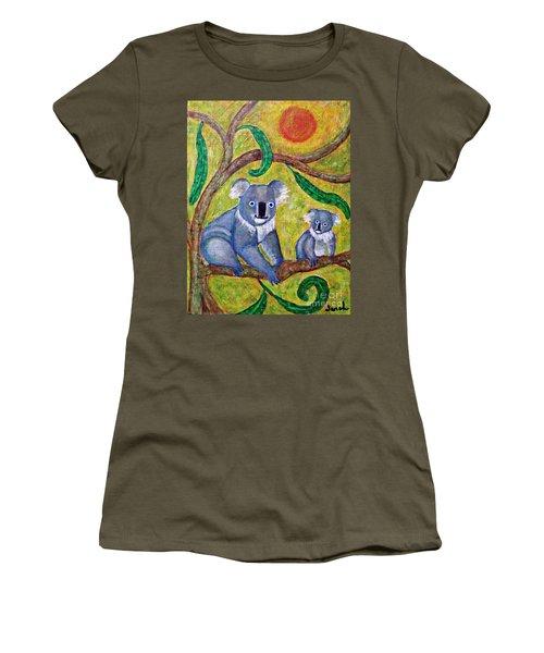 Koala Sunrise Women's T-Shirt (Junior Cut) by Sarah Loft
