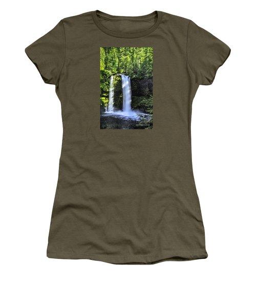 Koosa Falls,oregon Women's T-Shirt (Junior Cut) by Nancy Marie Ricketts