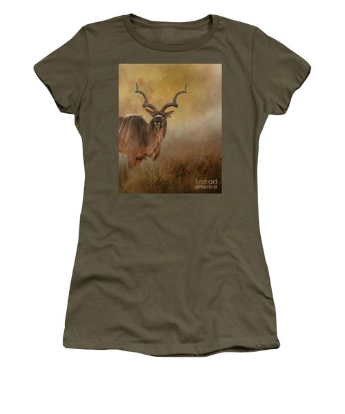 Kudu On Alert Women's T-Shirt (Athletic Fit)