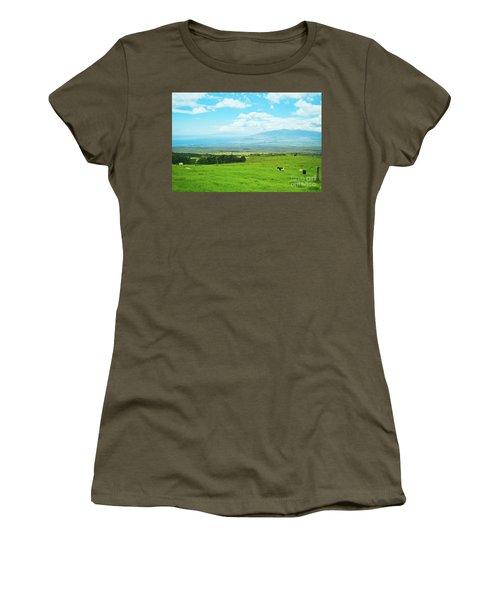 Kula Upcountry Maui Hawaii Women's T-Shirt (Junior Cut) by Sharon Mau