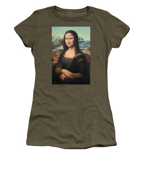 La Gioconda - Pastel  Women's T-Shirt (Athletic Fit)