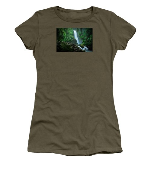 Women's T-Shirt (Junior Cut) featuring the photograph La Paz Waterfall Costa Rica by RC Pics