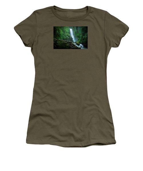La Paz Waterfall Costa Rica Women's T-Shirt (Junior Cut) by RC Pics