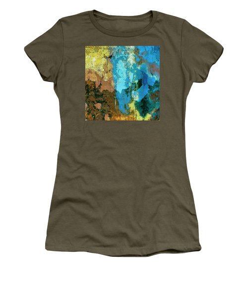 Women's T-Shirt (Junior Cut) featuring the painting La Playa by Dominic Piperata