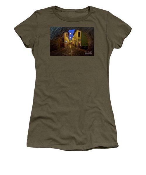 La Ronda Calle In Old Town Quito, Ecuador Women's T-Shirt (Junior Cut) by Sam Antonio Photography