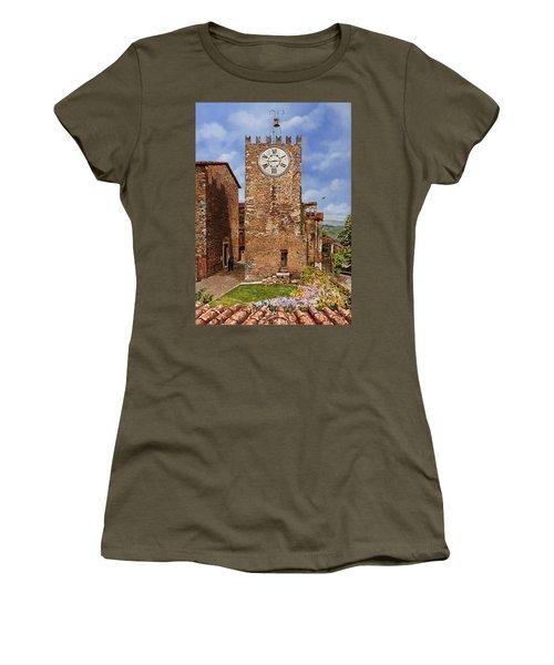 La Torre Del Carmine-montecatini Terme-tuscany Women's T-Shirt (Athletic Fit)