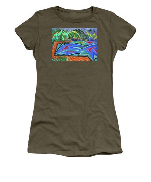 Lac Aura Women's T-Shirt (Junior Cut) by Robert SORENSEN