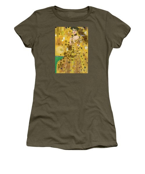 Lady In Gold Women's T-Shirt (Junior Cut) by P J Lewis