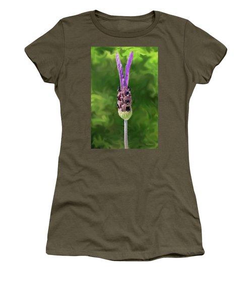 Lady Lavender Women's T-Shirt (Athletic Fit)