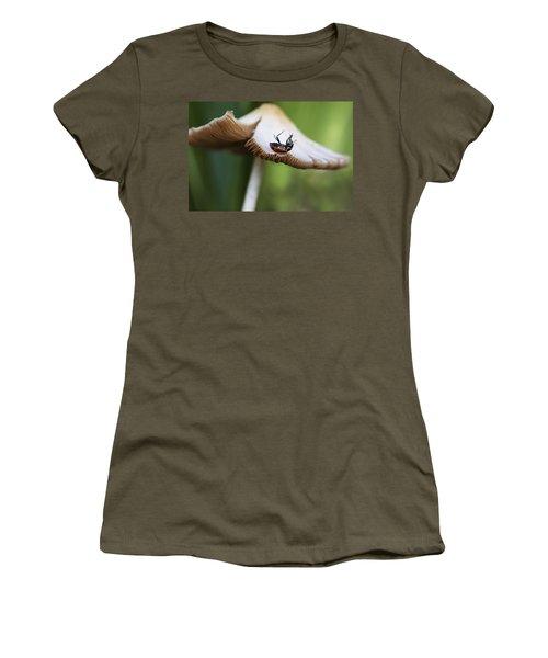 Ladybug Upside Down On Mushroom Women's T-Shirt