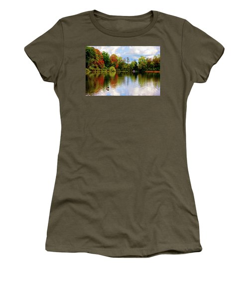 Lake At Forest Park Women's T-Shirt (Athletic Fit)