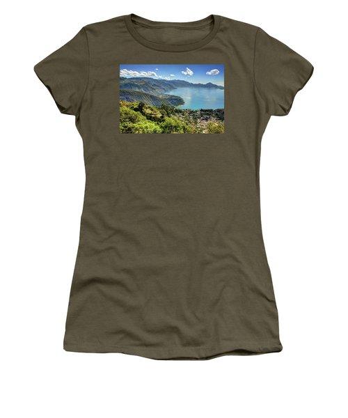Lake Atitlan Women's T-Shirt (Junior Cut) by John Loreaux