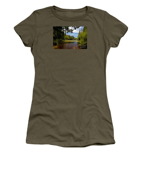Lake Fulmor View Women's T-Shirt (Junior Cut) by Ivete Basso Photography