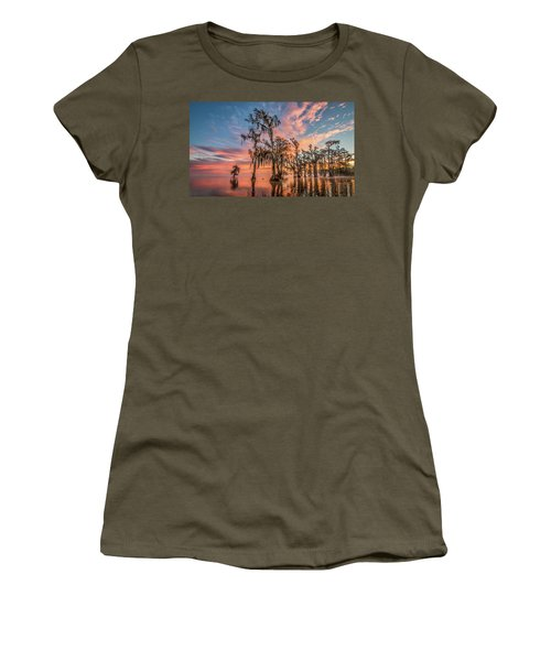 Lake Maurepas On Fire Women's T-Shirt (Athletic Fit)