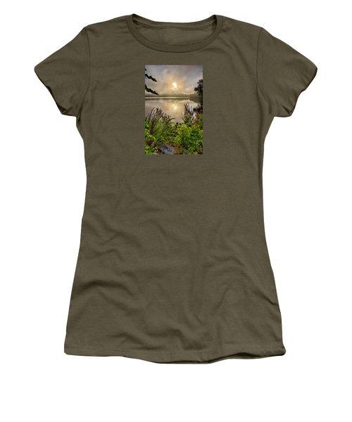 Lake Pentucket Sunrise, Haverhill, Ma Women's T-Shirt (Junior Cut) by Betty Denise