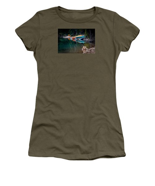 Kayaks At Rest Women's T-Shirt (Athletic Fit)